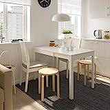 EKEDALEN/EKEDALEN Tisch und 2 Stühle, weiß, Ramna hellgrau, 80/120 cm, strapazierfähig und pflegeleicht, Essgruppe bis zu 2 Sitzplätze, Esstisch und Schreibtische, Möbel, umw