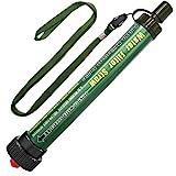 DeFe Wasserfilter Outdoor 2000L Mini Tragbarer Camping Wasseraufbereitung Entfernt 99.99% Bakterien Filter auf 0,01 Microns für Wandern Trekking Reisen und Notbereitschaft (Grün 1 Pack)