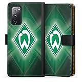 DeinDesign Klapphülle kompatibel mit Samsung Galaxy S20 FE Handyhülle aus Leder schwarz Flip Case SV Werder Bremen Offizielles Lizenzprodukt Wapp