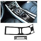 ZQTG 2 stücke Kohlefaser-Stil-Mitte-Konsole Getreide-Verkleidung für Land Rover Range Rover Evoque 12-17 Hochwertiges Zubehö
