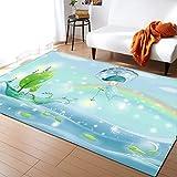 SONGHJ 3D Pastoraldruckteppich, Bodenschutzmatte Für Wohnzimmer, Rutschfester Teppich Für Rechteckiges Haushaltsschlafzimmer 150 * 200cm
