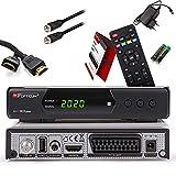 Opticum Sat Receiver SBOX Plus HD - PVR Aufnahmefunktion, Timeshift, FullHD Digitalreceiver DVB-S/S2, USB, SCART, HDMI, Einkabel , Astra Hotbird vorinstalliert + Anadol HDMI Kabel + Anadol Sat Kabel