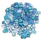 Special Touches Knöpfe aus Acryl und Kunstharz, flache Rückseite, für Kartenverzierungen, Blau, 100 Stück