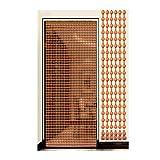Perlenvorhang Türvorhang Holzperlen Vorhänge Tür-Fadenvorhänge, Natürliche Pfirsichholz Perlen Vorhang Chinesische Dekoration, Handmade Quiet Langlebig, Anpassbar PENGFEI