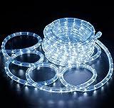 Lichterschlauch Lichkette 240 LED 10 Meter Turbo kaltweiß Dekoration Innen & Außen