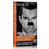 BAGLAK Aktivkohle Nasenstrips für Männer, 28 Stück,Mitesser Entferner Streifen Tiefenreinigung Streifen, Blackhead Clear-Up Strips
