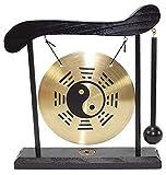Zen-Tischgong Taiji Symbol Feng Shui Meditation Schreibtisch Glocke Home Decor Housewarming Glückwunsch Segen Geschenk