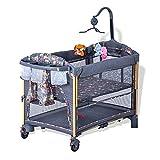 zcyg Reisebett Kinderbett Babybett Babybett, Multifunktional Tragbares Babybettbett Neugeborenes Faltbares Wiege-Bett, Das Großes Bett Näht