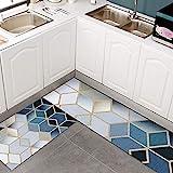 HLXX Mode Küchenteppich für Boden Anti-Rutsch-Bad Eingang Fußmatte Absorbierende Teppiche Wohnzimmer Schlafzimmer Kinder Pad A2 50x160cm