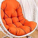CHSDN Hänge Egg Hängesessel Kissen Nest Sitzpolsterung, abnehmbare Wasserdicht ohne Standfuß Schaukelsitz Pads Patio-Garten-Orange 95x125cm (37x49inch), Größe: 95x125cm (37x49inch), Farbe: Gelb