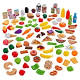 KidKraft 63330 Spielzeug-Lebensmittel Tasty Treats Deluxe 27-Piece Bright Cookware Set, Bunt