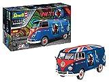 Revell Geschenkset VW T1 Tour-Bulli The Who, Fan-Edition, originalgetreuer Automodellbausatz für Fortgeschrittene, Starter Kit mit Basis-Zubehör