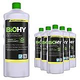 BIOHY Teppichreiniger für Waschsauger (6x1l Flasche) | geeignet für alle Waschsauger | entfernt Flecken und Schmutz mühelos | Reinigung und Pflege in nur einem Arbeitsgang