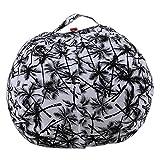 LDIW Spielzeug Aufbewharungstasche Kinder Sitzsack mit Reißverschlus Kuscheltier Aufbewahrung Stofftier-Sitzsack Abdeckung,S20,24inch