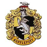 Harry Potter © Hufflepuff Wappen - Aufnäher, Bügelbild, Aufbügler, Applikationen, Patches, Flicken, zum aufbügeln, Größe: 7,9 x 6,5 cm