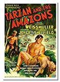 Tarzan and The Amazons #1 A2 ungerahmtes Abenteuer-Film-Werbeplakat Vintage Stars Foto Bild