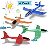 Sunshine smile Segelflugzeug,4 Stück 35cm Kinder Schaum Flugzeug,Schaum Flugzeug Spielzeug,wurf Segelflugzeug,Segelflugzeug Modell,Manuelles werfen Flugzeug,Flugzeug Outdoor-Sportarten Spielzeug