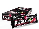 Layenberger High Protein Riegel Cranberry-Cassis mit viel Eiweiß und wenig Zucker (16 g Eiweiß, nur 0,4 g Zucker), 18er Pack (18 x 35 g)