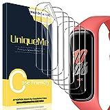 [6 Stück] UniqueMe Schutzfolie Kompatibel mit Samsung Galaxy Fit 2, Blasenfreie [Klar HD] Folie TPU Displayschutz Fingerabdruck-ID unterstützen [Soft] Displayfolie