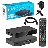 MAG 520w3 Original Infomir & HB-DIGITAL 4K IPTV Set TOP Box Multimedia Player Internet TV IP Receiver # 4K UHD 60FPS 2160p@60 FPS HDMI 2.0# HEVC H.256 Unterstützung # ARM Cortex-A53 + HDMI Kab