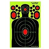 fritz-cell 25 Splitterziele Splittersticker Typ 24368 selbstklebend Zielscheibe für alle Gewehre, Pistolen, Luftgewehre, Airsoft, BB, Diabolo kompatibel mit Splatterburst Zielen
