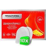 TerraTherm Fußwärmer-Pads, Wärmepads selbstklebend, 8h warme Füße, Zehenwärmer Pads extra dünn und angenehm weich, 10