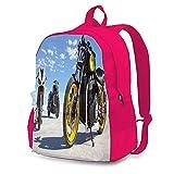Triumph Motorrad-Rucksäcke für Erwachsene, modische tragbare Computer-Taschen, Aufbewahrungstaschen, Reisen, Bergsteigen, multifunktionale Arbeits- und Lernrucksäcke Gr. One size, rose
