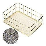 AMONIDA Aufbewahrungskorb, langlebiger Desktop-Korb, Premium-Material für die Küche Badezimmer(small)