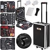 Monzana Werkzeugkoffer XXL gefüllt Set 899tlg Qualitätswerkzeug Werkzeugkasten Werkzeugkiste Werkzeugtrolley anthrazit