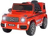 Actionbikes Motors Kinder Elektroauto Mercedes Benz Amg G63 W463 - Lizenziert - 2,4 Ghz Fernbedienung - Ledersitz - Elektro Auto für Kinder ab 3 Jahre (Rot)
