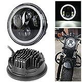 'Neue Typ 5.75 5 3/4 Zoll LED Scheinwerfer Engel Augen für Halo Motorrad (EIN Jahr Garantie)