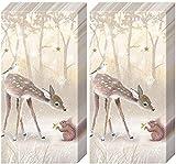 20 Taschentücher (2x 10) Friedlicher Wald als Geschenk für Liebhaber von Tiere im Wald