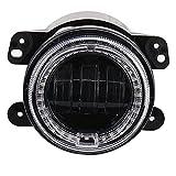WEIHO 4 Zoll 30W Nebelscheinwerfer für Harley Nebelscheinwerfer Jeep Wrangler Nebelscheinwerfer Motorrad modifiziert mit Angel Eyes Nebelscheinwerfern