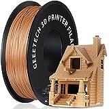 GEEETECH Filament PLA 1.75mm for 3D Drucker 1kg Spool, Holz