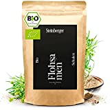 Premium Bio Flohsamenschalen von Steinberger | 99% naturrein – 1000 g im wiederschließbaren Standbeutel | Vegan, low-carb, ballaststoffreich, glutenfrei