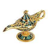 Genie Licht Lampe, hohl Geschnitzte Aladdin Lampe Magie Genie Licht, Vintage-Stil, f¡§1r Geschenk, Dekoration, blau