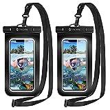 Syncwire wasserdichte Handyhülle Unterwasser Wasserfeste - 2 Stück 7 Zoll DOPPELT VERSIEGELT Wasserdicht Handy Hülle Handytasche für iPhone 12 SE 11 Pro XS Max XR X 8 7 6+ Samsung Huawei etc