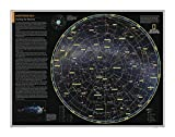 National Geographic: Northern Sky: Charting the Heavens – Poster – 71,1 x 55,9 cm – laminiert