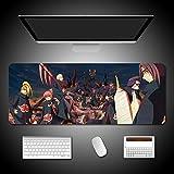 Naruto Gaming Mauspad Erweiterte große Tastatur Mauspad Anime Itachi und Sasuke Übergröße Mousepad für Computer PC Desk Office (Size : 900 * 400 * 3mm)-A_700*300 * 3MM
