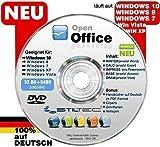 Open Office Paket CD/DVD TEXTVERARBEITUNG / SCHREIBPROGRAMM KOMPATIBEL zu Word & Excel® -Für Windows 10 ® Windows 7®, 8® ,XP® & Vista®