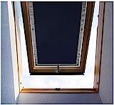 Purovi Thermo-Rollo für Dachfenster – Verdunklungsrollo ohne Bohren – UV- und Hitzeschutz-Rollos für Velux- und Roto-Fenster in verschiedenen Größen