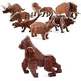 MINICHICK Modellbausatz zum Bauen - 3D Puzzle - Made in Europe - ohne Kleber - Entdecken Sie die 8 Modelle (Gorilla)
