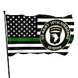 HOCLOCE 101st Airborne Division Vietnam Veteranen-Flagge, 90 x 150 cm, Banner, Hofflaggen, 7,6 x 12,7 cm, für Innen- und Außenb