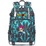 ZZGOO-LL Dragon Ball Son Goku/Vegeta IV/Torankusu Umhängetasche Outdoor-Rucksack für viel Aufbewahrungstasche USB Unisex-F