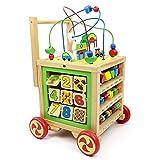 Lauflernwagen Holz Baby Lauflernhilfe-Laufwagen Gehhilfe Laufhilfe für Baby Spielzeug ab 12 Monate,Baby Walker Safety 1st Babyspielzeug ab 1 Jahr,Holzspielzeug Lernspielzeug ab 1 Jahren Mädchen Junge