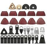 Universal-oszillierende Sägeblätter Set, 100 × Fast Fit Mixed Blades Oszillierende Sägeblatt Kit, Universal Multi Oszillierende Werkzeug-zubehör-kit Für Holz Und Metall