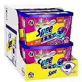 Spee Power Caps Color 3+1, Colorwaschmittel, 128 (8 x 16) Waschladungen, Reinheit, Strahlkraft und Frische für deine Buntwäsche zum schlauen Preis, 20-60°