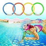SHOPANTS 4pcs Klassische Tauchringe Tauchspielzeug Kunststoff Tauchringe Unterwasser Schwimmbad-Spielzeug Ringe Spaß Kinder Tauchen Spielzeug für Tauchen Schwimmbad
