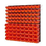 90 Stapelboxen Rot Rot mit wandregal 80 x 80 cm | boxen lager wandplatten wandpaneel werkstatt garag