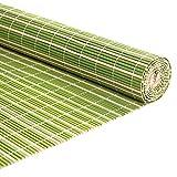 QYQS Bambusrollo Schattierungsrate 65% Patio-farbtöne Roll Up Outdoor Bambus Rollt Jalousien mit Valance Auf (wir Machen Benutzerdefinierte Größe)(Size:80x100cm,Color:Grün Weiß)